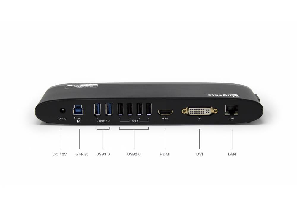 Plugable UD3900H Horizontal Docking Station