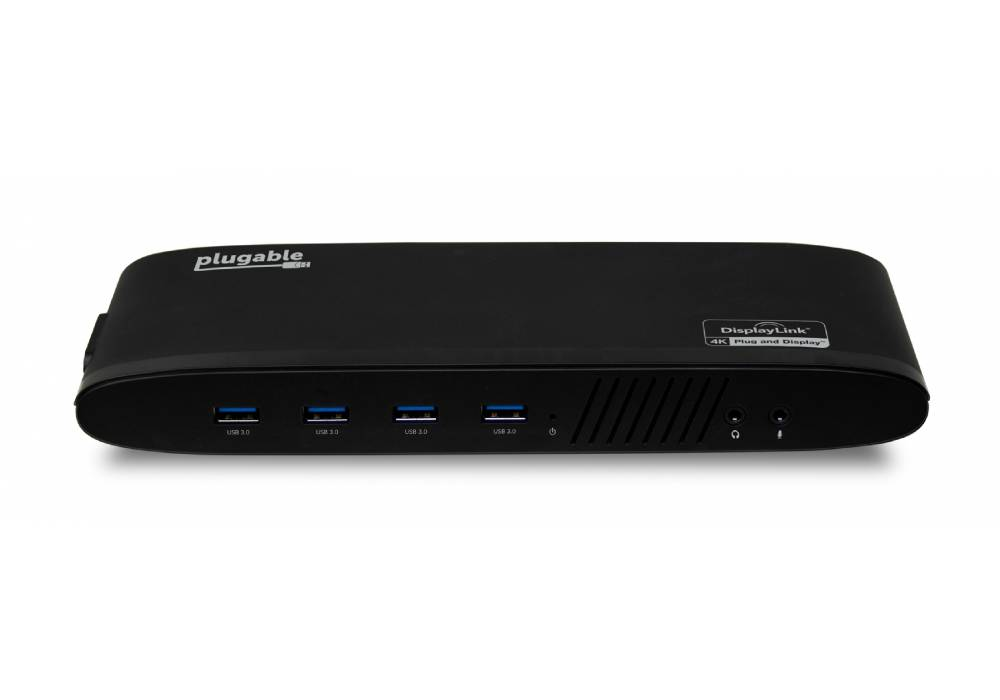PLUGABLE UD-6950H USB 3.0 DUAL 4K DISPLAY HORIZONTAL DOCKING STATION WITH DISPLAYPORT AND HDMI