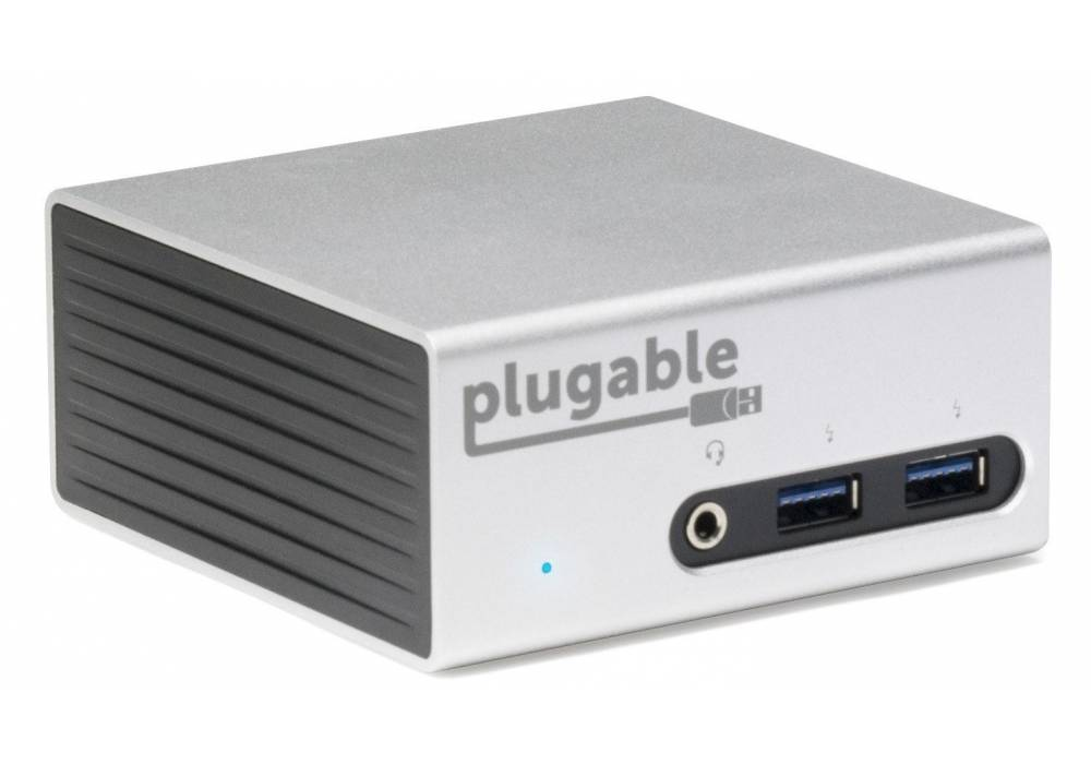 Plugable UD-5900 USB 3.0 Aluminum Mini Universal Docking Station with Dual Video Outputs and 4K Supp
